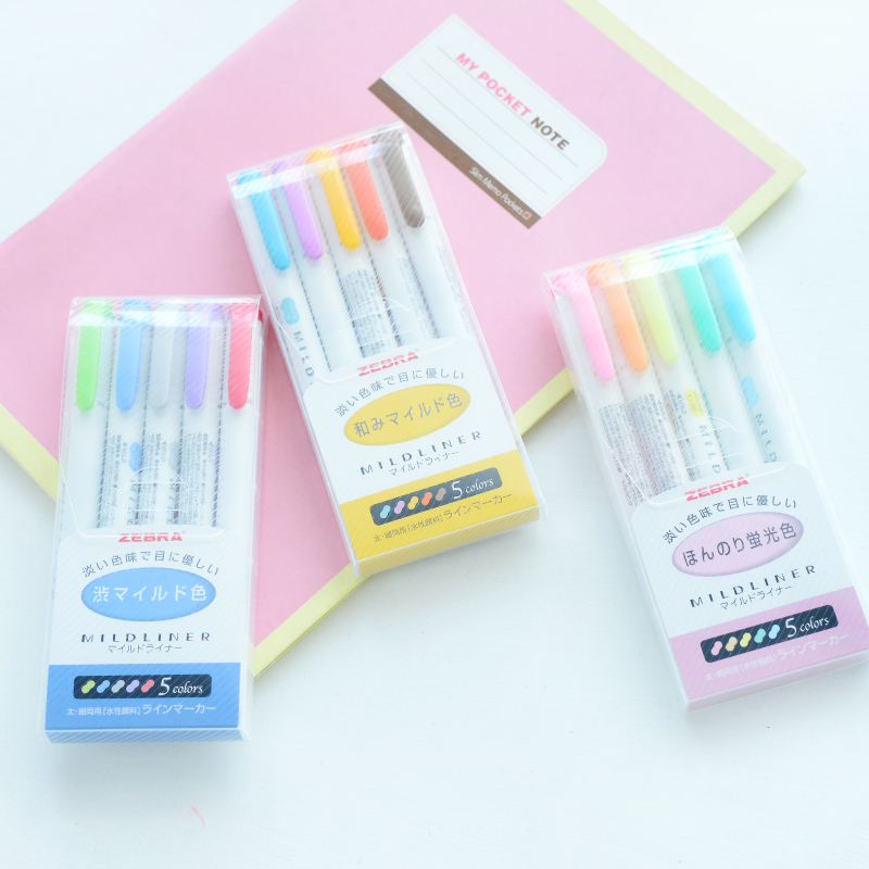 zebra mildliner highlighters to make school more enjoyable