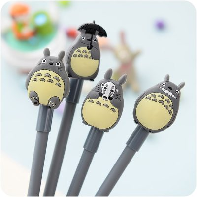 Closeup of 4 Totoro gel pens