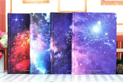 Galaxy Hardcover Notebook Four Options Side By Side On Table