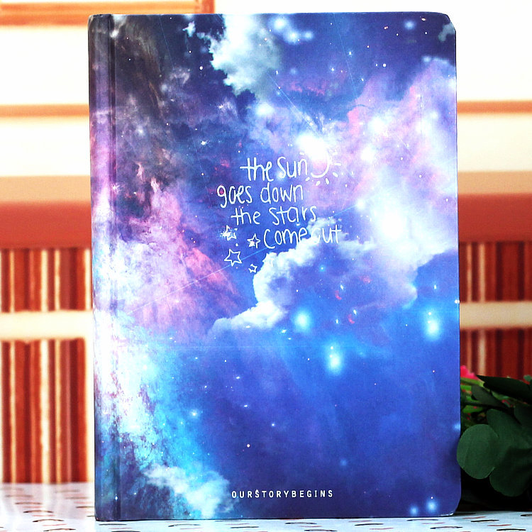 Galaxy Hardcover Notebook One Option Blue Pink