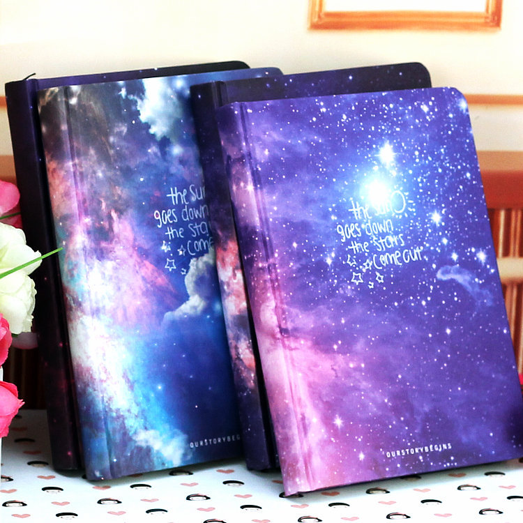 a pretty, galaxy hardcover notebook to make going back to school a little more enjoyable