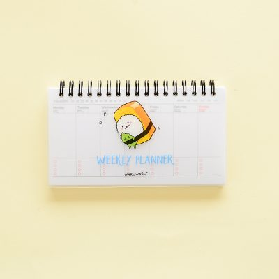 Sushi Cartoon Weekly Planner Yellow