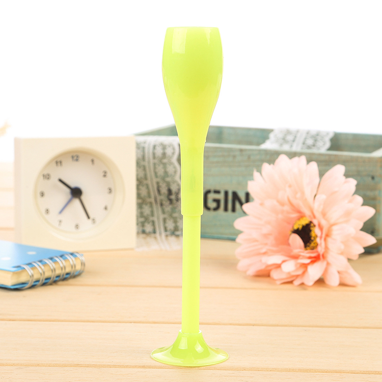 Yellow option pastel cocktail glass gel pen