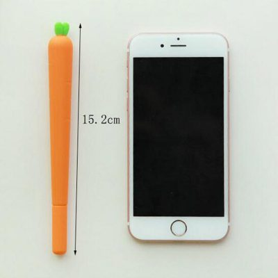 Carrot gel pen dimensions compared with iphone 6