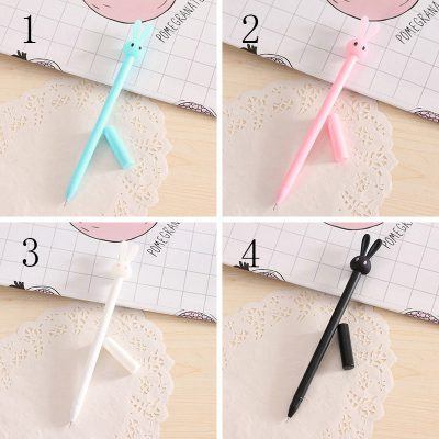 Pastel bunny gel pen 4 color options design blue white black pink