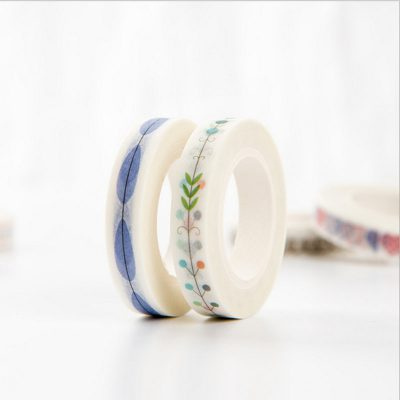 Vintage nature washi tape 2 options blue and multicolored