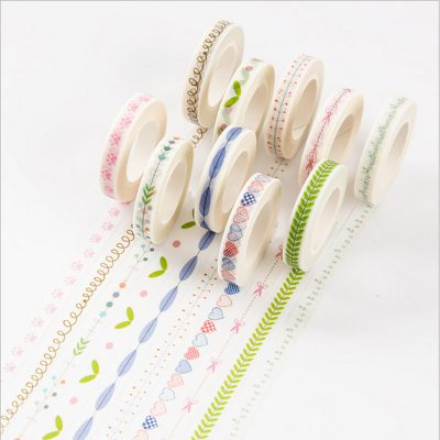 Vintage nature washi tape assorted swatches