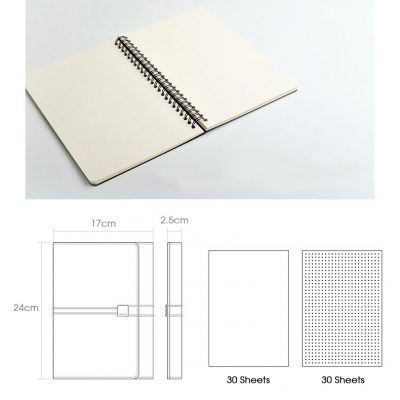 Blank paper notebook for professional tri-fold notebook organizer dimensions 30 sheets