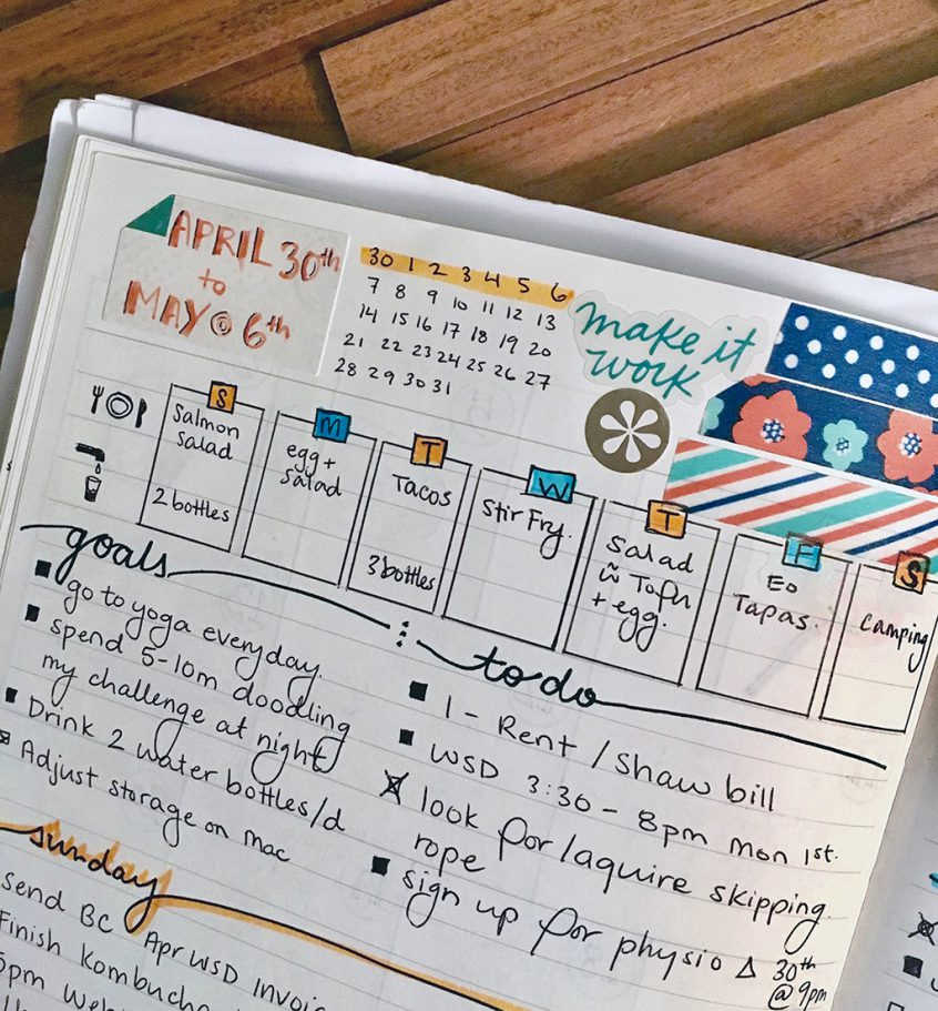 3 Tips To Start Menu Planning In Your Bullet Journal