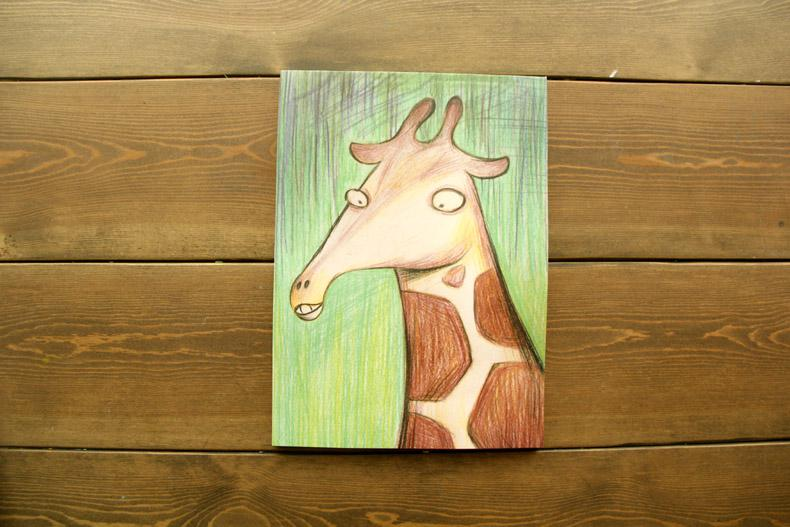 Cartoon Giraffe Ballpoint Pens Giraffe Option