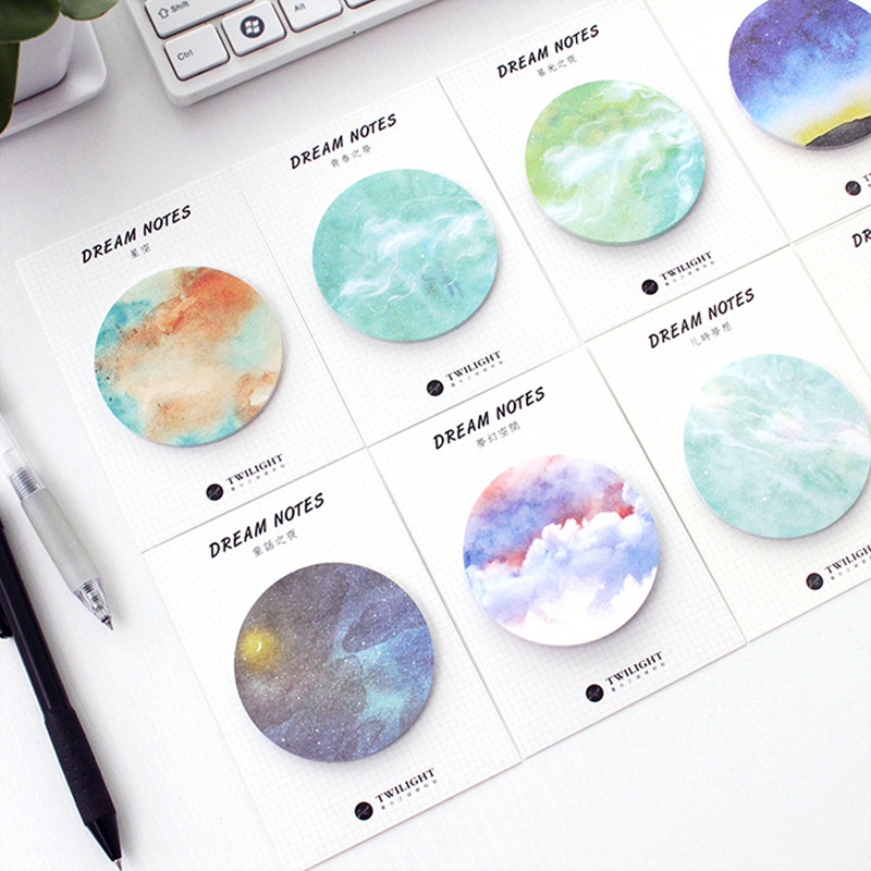 galaxy sticky notes stationery to make going back to school a little more enjoyable
