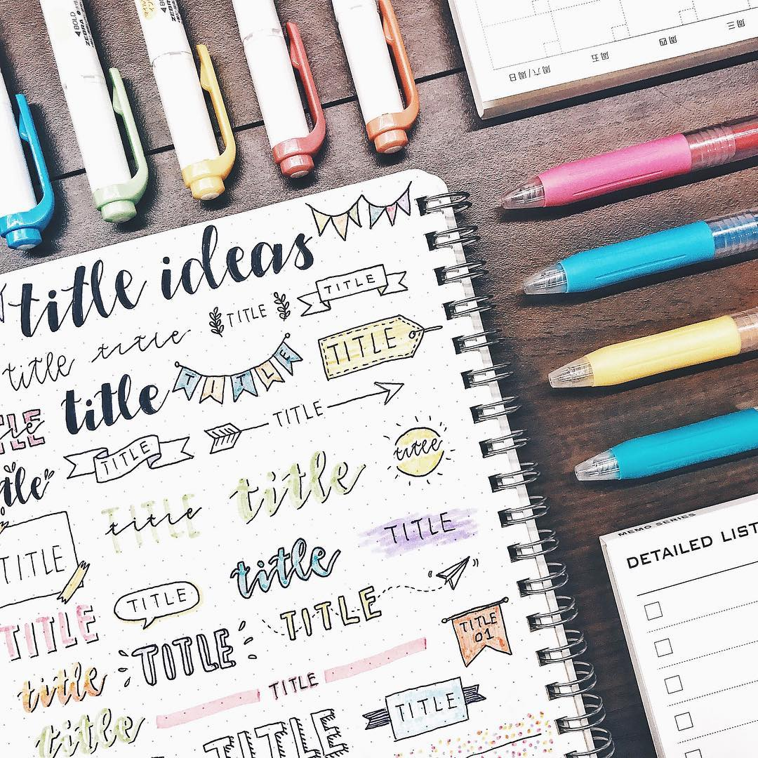5 Different Layout Ideas For Bullet Journal Addicts
