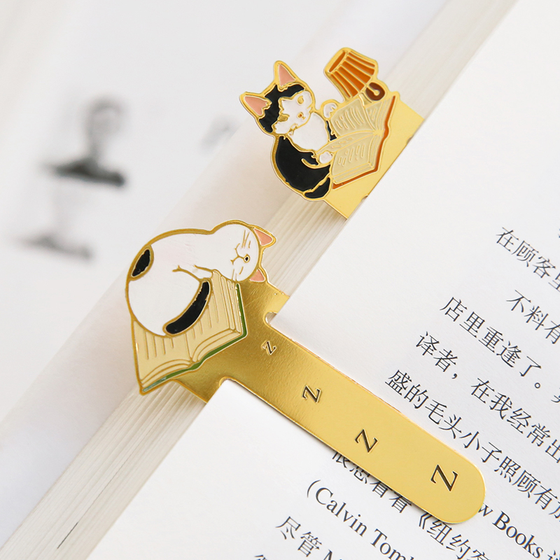 Little Kitten Metal Bookmark In Book