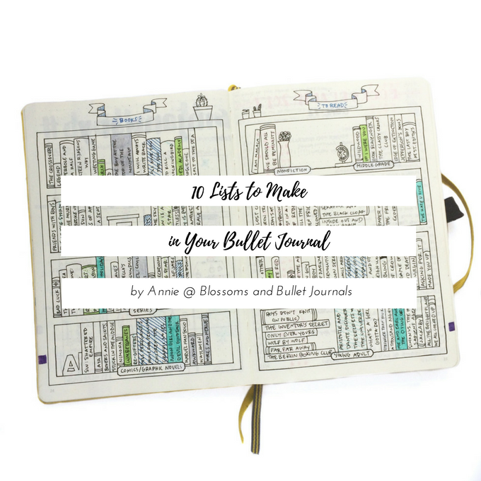 10 Lists To Make In Your Bullet Journal