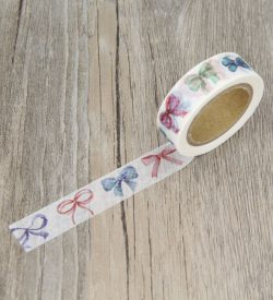 Watercolor Bowtie Washi Tape Swatch