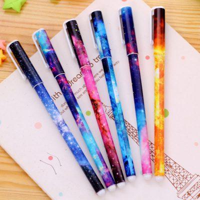 Starry Sky Gel Pens Flatlay