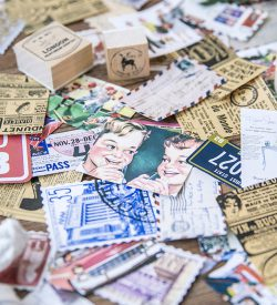Assorted Decorative Vintage Stickers Spread Out