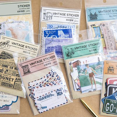 Decorative Vintage Stickers In Packages