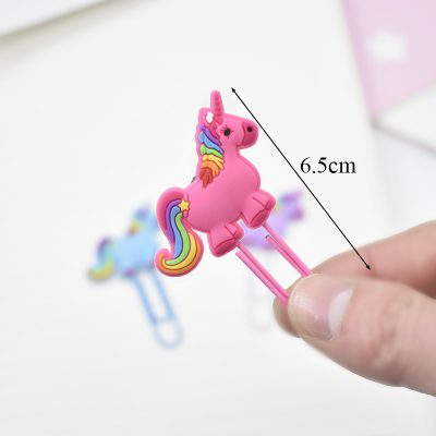 Hand Holding Pink Rainbow Unicorn Paperclip Dimensions