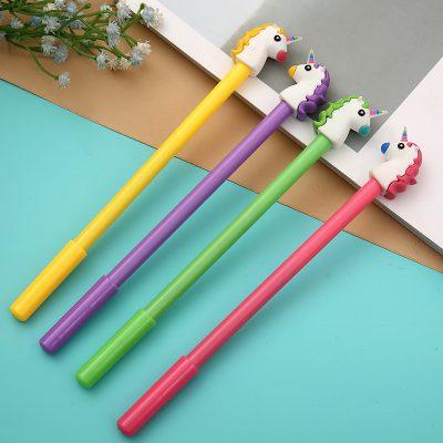 4 Unicorn Gel Pens In Line