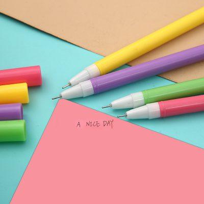 Uncapped Unicorn Gel Pens On Colored Paper