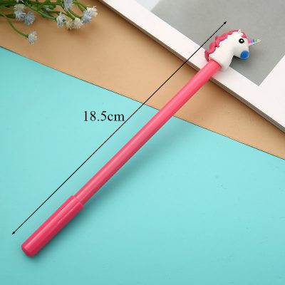 Red Unicorn Gel Pen Dimensions