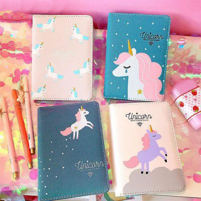 Magical Unicorn Journal Four Options On Table