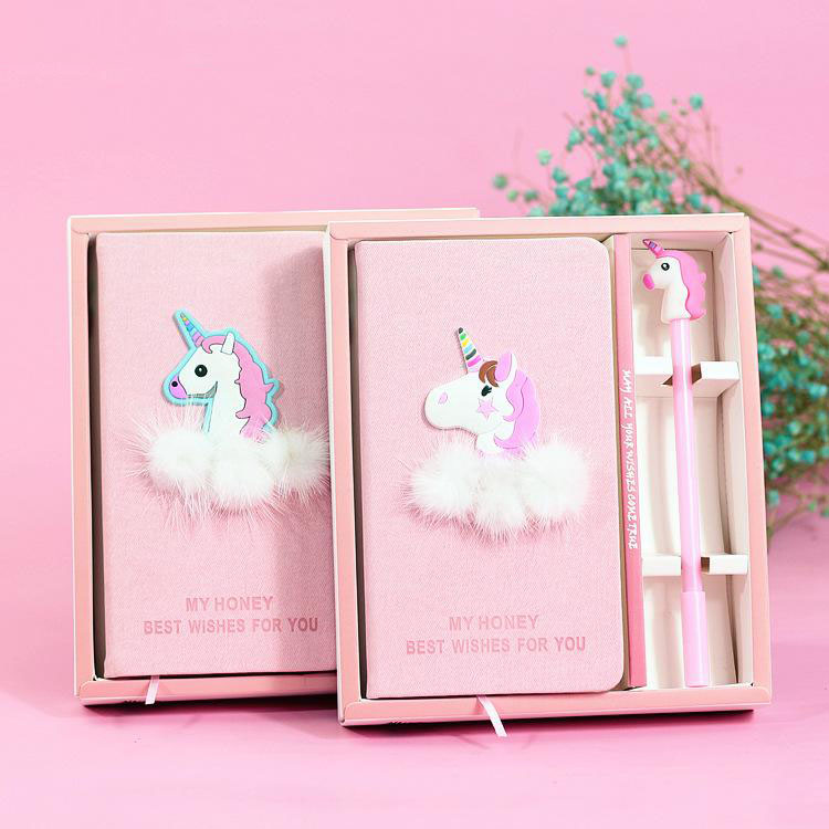 Frilly Pink Unicorn Journal Set Options Side By Side