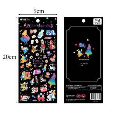 Alice in Wonderland Stickers Dimensions