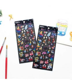 Alice in Wonderland Stickers Flat Lay