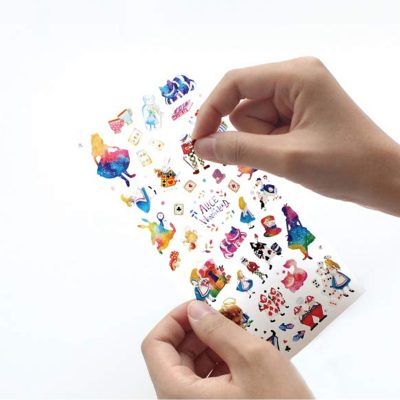 Hand Holding Alice in Wonderland Stickers