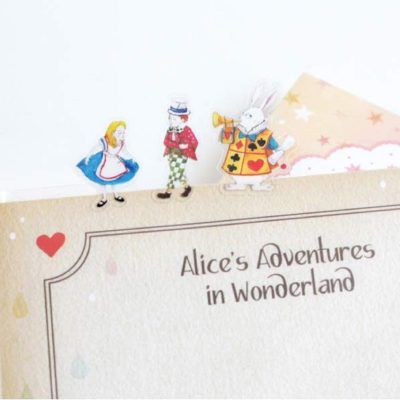 Alice in Wonderland Stickers On Notebook